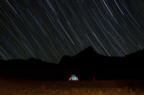Camping Beneath The Stars - With Star Trail Tutorial
