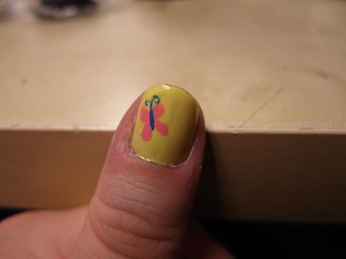 Fluttershy Nail Art :D