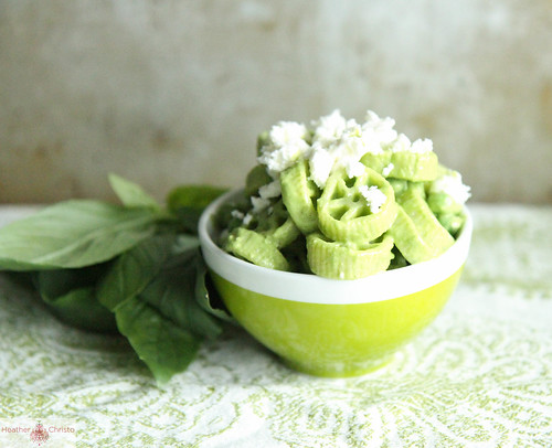 Creamy Basil Pasta Salad with Peas and Feta