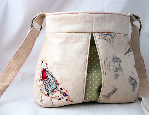 Trade Order- Applique Bird Bag by Once upon a time in the north