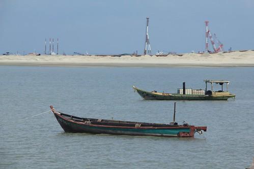國光石化到馬來西亞邊佳蘭,攝影:卓衍豪。 純樸的邊佳蘭漁村,如今 正遭受史無前例的發展衝擊。