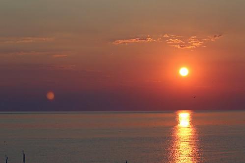 sunset sky sun clouds virginia easternshore chesapeakebay kiptopekestatepark