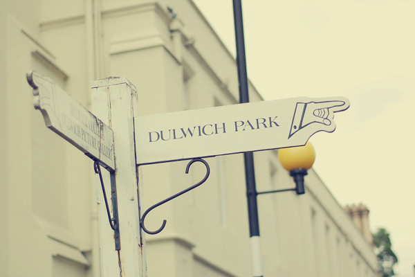 Wardrobeblock : Dulwich park sign South london