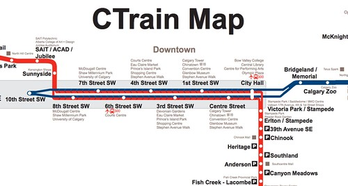 C Train Map New Calgary Transit CTrain map « Thoughts, etc. C Train Map