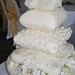 Four tiered cushion/pillow wedding cake for The Savoy