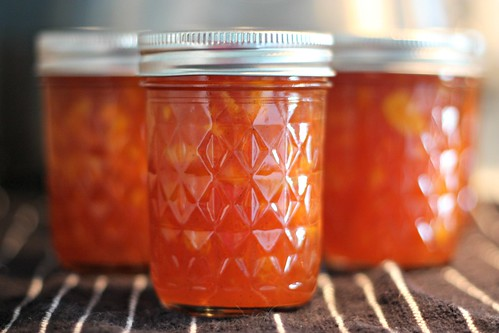Peach Vanilla Bourbon Jam
