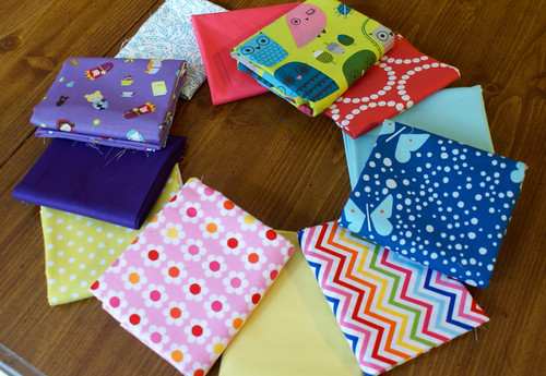 Fabric Stack for Kiddo Journals (Girls)