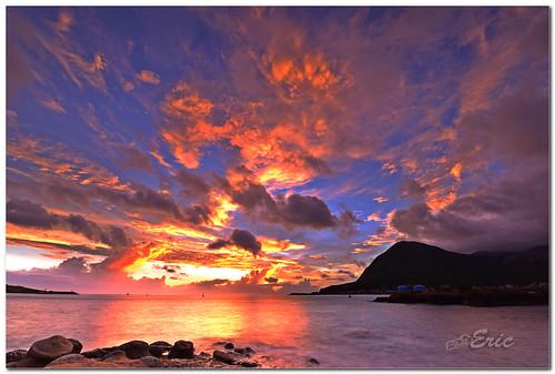 sea sky stone clouds sunrise nikon taiwan 台灣 雲 海 天空 d800 瑞芳 日出 juifang 石頭 番仔澳 142428g