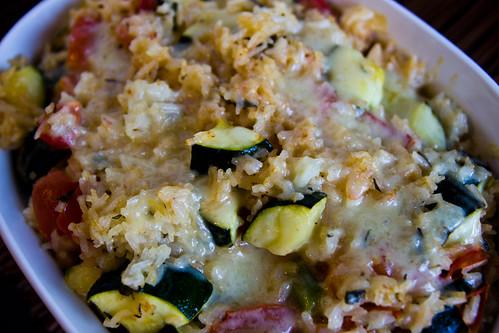 Lemon Thyme Zucchini Rice Casserole