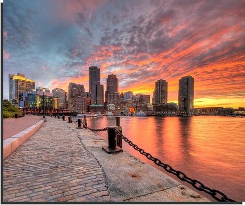 Boston Sunset from Fan Pier