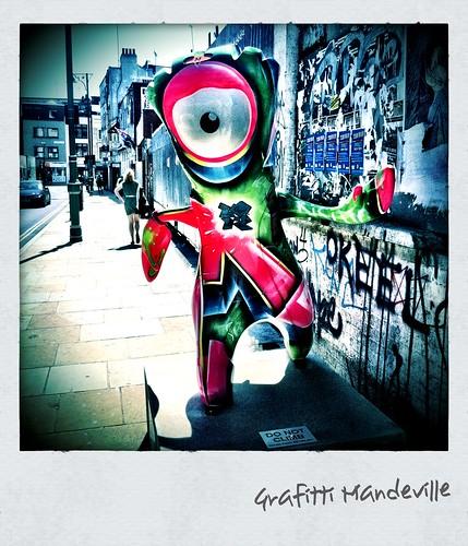 Grafitti Mandeville by plasticsnow aka Kat