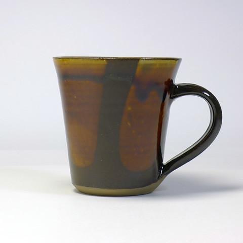 黒木富雄窯 マグカップ/飴釉流し掛け