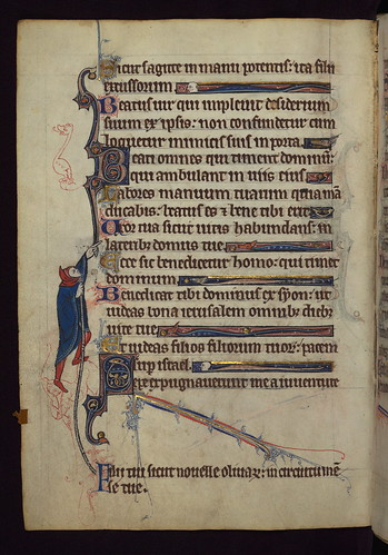 Book of Hours, A scribal error corrected, Walters Manuscript W.102, fol. 33v by Walters Art Museum Illuminated Manuscripts