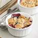 Peach and Blueberry Crumbles