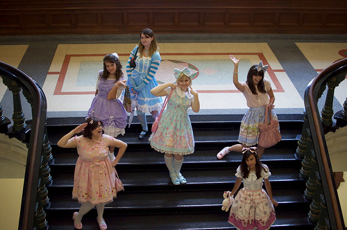 Lolitas on Stairs