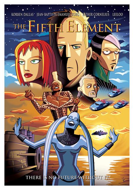 Posters de Filmes em animações o quinto elemento