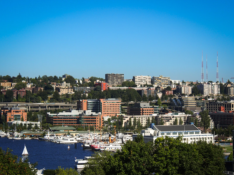 across Lake Union