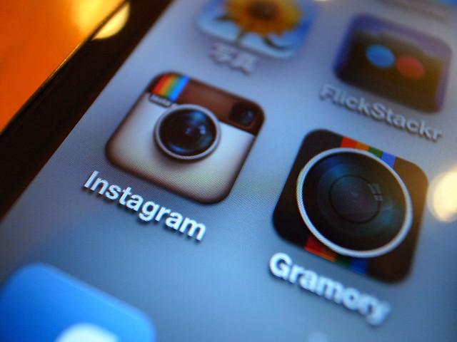 Instagramアイコンアップ写真