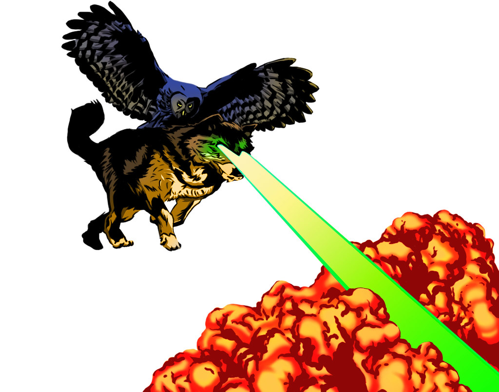 owl laser wolf