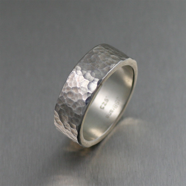 8mm hammered sterling silver band ring flickr photo