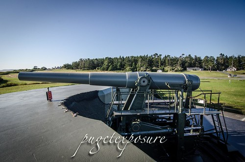 Fort Casey 10 inch Gun on display