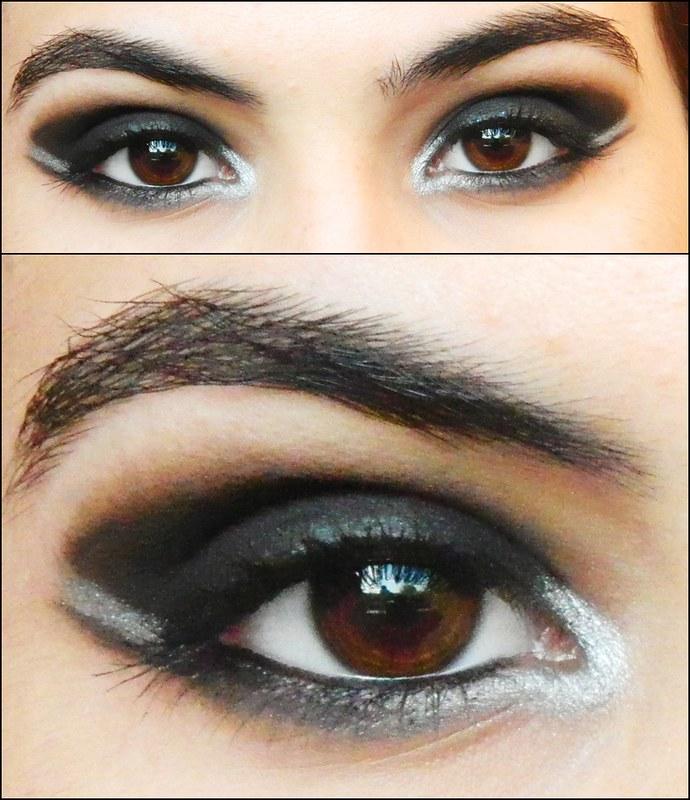 juliana leite foto tutorial make up maquiagem preta com prata batom vermelho ou nude para a noite para festa smokey eyes simples rápido fácil como fazer resultado