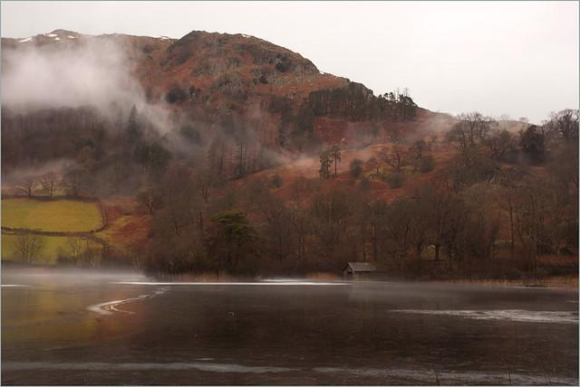 Frozen Lake. Lake District, Cumbria.