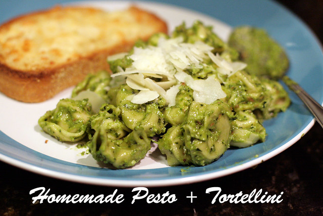 Homemade Pesto and Tortellini