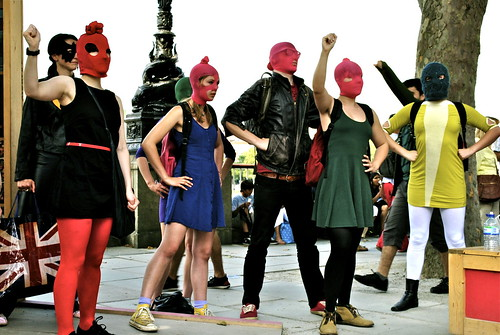 Pussy Riot Superheroes Freeze Flashmob