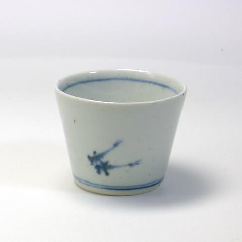 砥部焼 中田窯「蕎麦猪口/魚(小)」