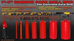 "Brand New 1-7"" Diamond Coring Drill Wet Dry Pneumatic Concrete Drilling"