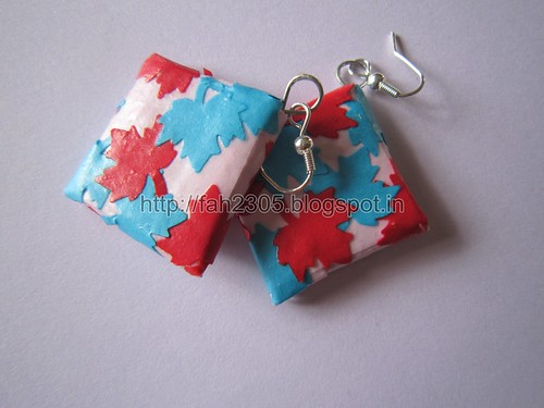 Handmade Jewelry - Paper Punch Patchwork Earrings (1) by fah2305