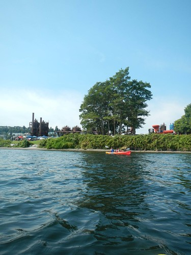 Gasworks Park while Kayaking