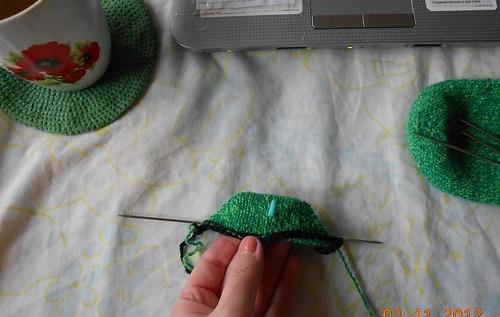Носки 6 от мыска самое начало носка