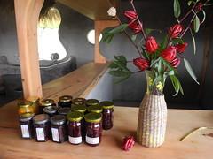 族人自己種、自己製作的洛神花醬。