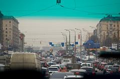 Les embouteillage du matin à Moscou !