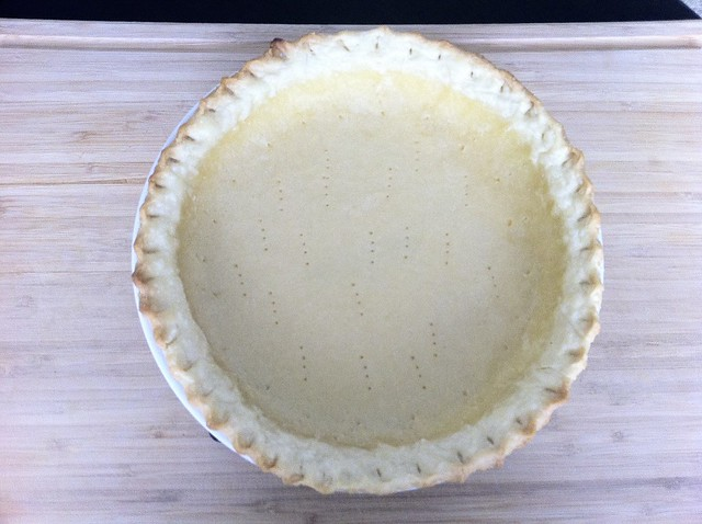 Partially Blind-Baked Pie Shell, Pricked with Fork
