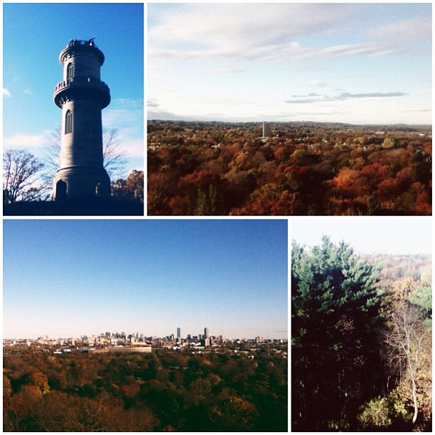 View of Boston from the tower at Mt. Auburn Cemetery. Beautiful!