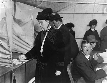 Abigail Scott Duniway, voting in an Oregon election for the first time