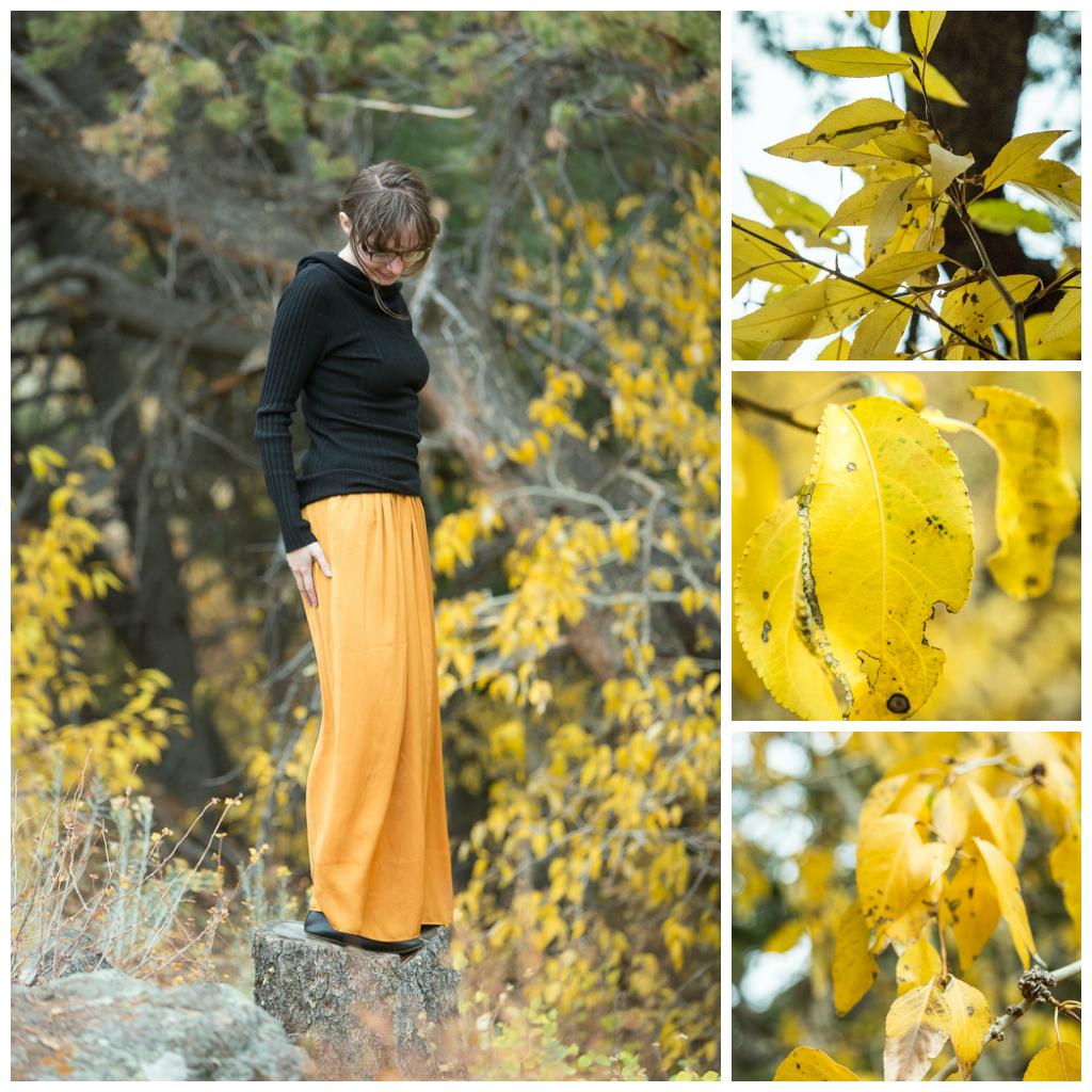 Ashley's Golden Skirt