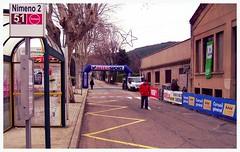 Ville de Caveirac, Route de Clarensac, lieu de départ de la course, l'arrivée se faisait également au même lieu