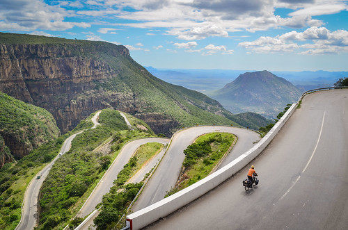 Cycling up the Serra da Leba road