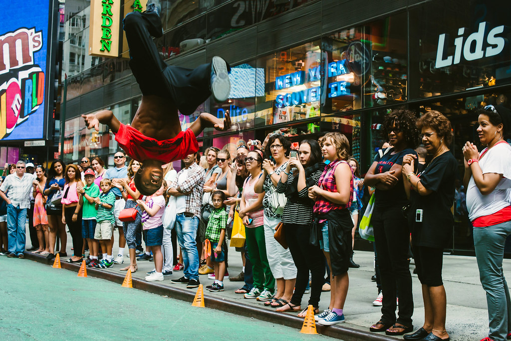 street performers in times square