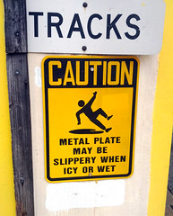 Stick figure in peril