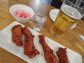 Korean Spicy wings at Chicken Star