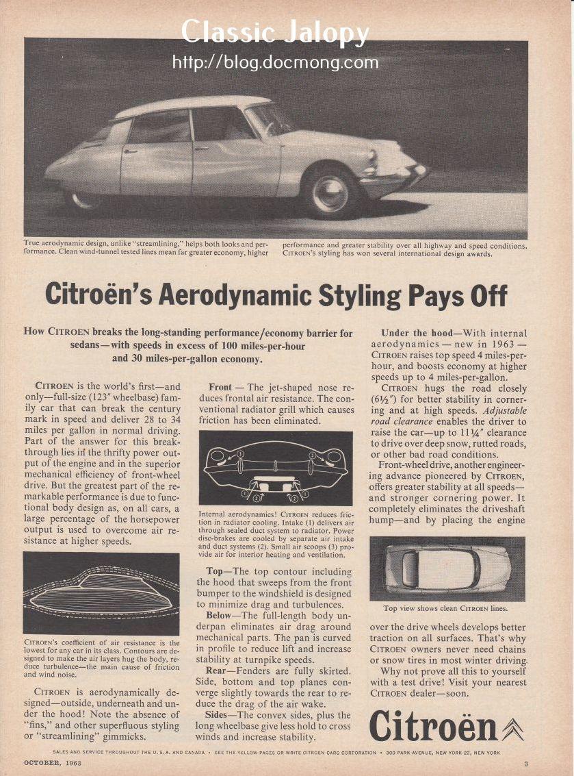 Citroen DS Aerodynamic styling