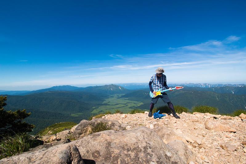 燧ヶ岳の山頂から