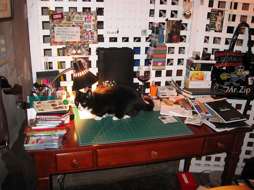 Soda waits on my writing desk