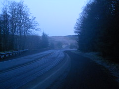 Almost daybreak at the summit of the Mist-Clatskanie Highway
