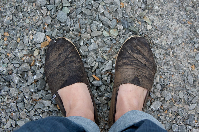 TOMS vs the mud. Mud wins.